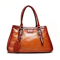 Kattee Vintage Italian Leather Large Tote Shoulder Bag