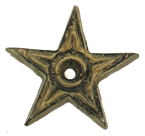 VoojoStore Cast Iron Star - Center Hole Small Set of 12 - Perfect Gift For Men Women Couples Grandpa Father Mother Engagement Wedding Anniversary Christmas Birthday Him Her Sister Wife Husband