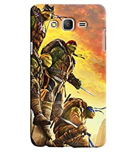 Clarks Ninja Turtles Hard Plastic Printed Back Cover/Case For Samsung Galaxy On 5