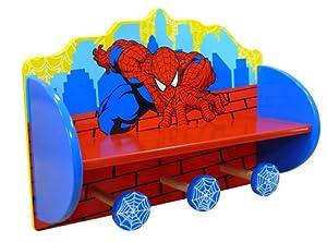 Jemini 711964 - Perchero con estantería de madera, diseño de Spiderman