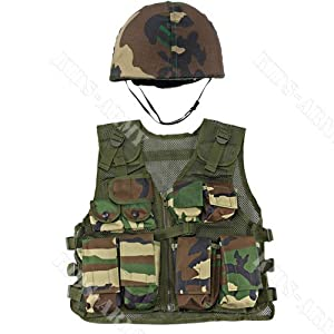Amazon.com: Kids-Army Helmet and Kids Combat Vest: Toys & Games