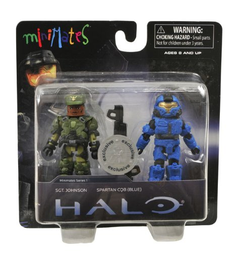 Picture of Diamond Select Halo Minimates Series 1 Exclusive Mini Figure 2Pack Sgt. Johnson Spartan CQB Blue (B004GMQO58) (Halo Action Figures)