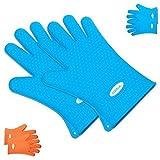 Silikon Handschuh, dizauL ® Neu Heat Resistant (Paar), groß für das Kochen und Grillhandschuh-Perfect Grillhandschuhe und Topflappen anti-hot, Kochen-Wasser-Beweis, Widerstandshochtemperatur, Wärmedämmung, Superb Grip, gutes Werkzeug für die Küche