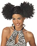 Discopuffs Black 1970s Wig Fancy Dress Ladies 70s Disco Costume Accessory