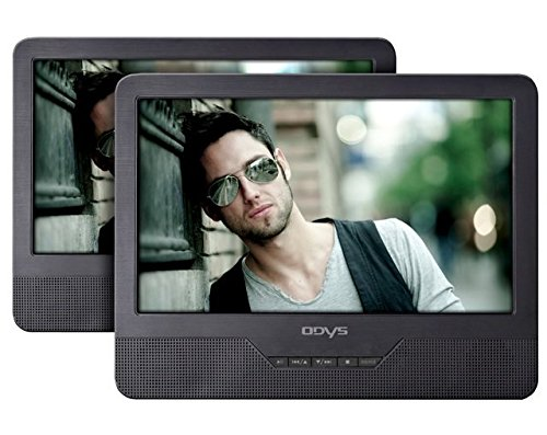 Seal tragbarer DVD-Player mit zusätzlichem Bildschirm 23 cm (9 Zoll) (hochauflösendes digitales TFT-Display (800x480 Pixel), USB, SD-Card) schwarz