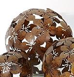 Dekokugel Blume Metall braun D 20 cm Gartenkugel Kugel
