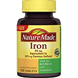 Nature Made Iron, 65 mg, Tablets, Value Size, 180 tablets