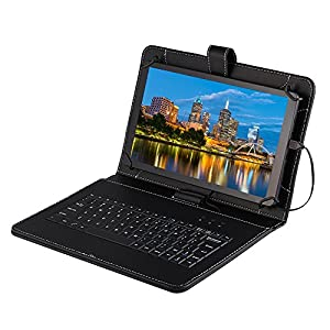 """Tagital® T10 Plus 10.1"""" Octa Core Android 5.1 Tablet PC 1GB RAM 16GB Nand Flash Bluetooth HD Dual Camera HDMI Output 3D Game Supported Bundled with Keyboard (Updated Version) from MTM Trading LLC"""