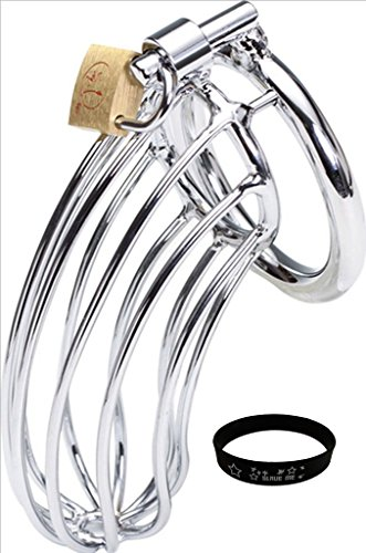 "Firetea New Arrival Fetish Bed Bondage Sex Chastity Device Cage with ""SLAVE ME"" Bracelet, 2"" Ring, DN-031"