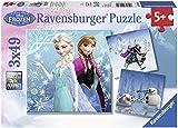 Ravensburger 09264 - Disney Frozen: Abenteuer im Winterland - 3 x 49 Teile Puzzle