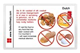 Nuts, Peanuts, Milk and Egg Allergy Translation Card - Translated in Spanish or any of 67 languages