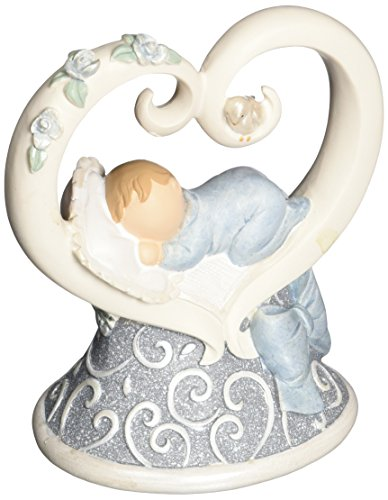 Gund Baby Legacy of Love Figurine, Blue, 3.875""