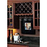 Image Omega National Cabinet Mount Wine Lattice, 14 Bottle Capacity, 17 inch W x 36 inch H, Alder Unfinished Wood