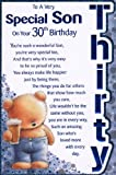 Son`s 30th Birthday Card - 'To A Very Special Son on Your 30th Birthday' - Great Quality Card