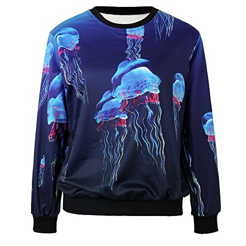 Women Men Fashion Casual Digital Colorful Printing Pullover Athletic Sweatshirts