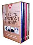 img - for Patrick Lencioni Library (Five Temptations of a CEO; Four Obsessions of an Extraordinary Executive; Five Dysfunctions of a Team; Death by Meeting) book / textbook / text book