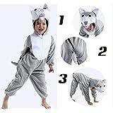 Cartoon Wolf Tierkostüme Kinder Nette Karikaturkostüme Kleid Show Tier Cosplay Kleidung Trikot Plüschtiere Kleidung sizeS