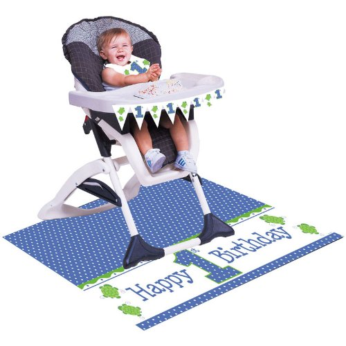 Creative Converting Mr Turtle First Birthday High Chair