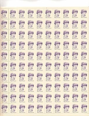 Mary Cassat Sheet of 100 x 23 Cent US Postage Stamps NEW Scot 2181
