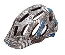 Giro Xen Mountain Bike Helmet, Matte Titanium/Cyan Blue Collage, Medium