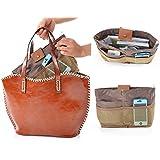 Housweety Women Travel Insert Handbag Purse Large liner Organizer Tidy Bag Pink