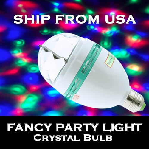 Technoled Auto Rgb Full Color Rotating Led Lamp Stage Light Torch 3W With E27 Base For Disco Dj Stage Party Ktv Bars Club With Sound Activated