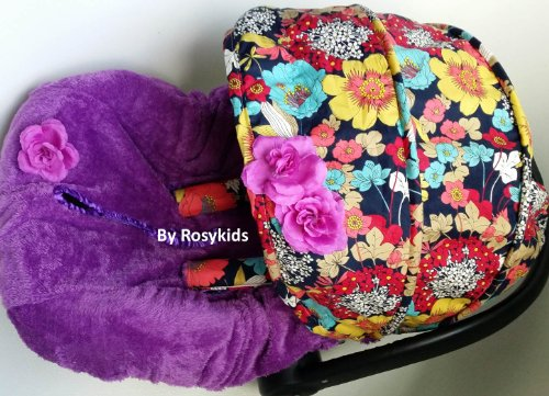 Infant Carseat Canopy Cover 3 Pc Whole Caboodle Baby Car Seat Cover Kit Floral Print C010100 front-228870