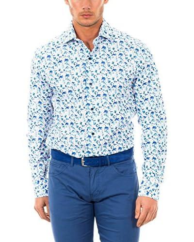 McGregor Camisa Hombre Lerici Burton 4 Tf Ls Blanco / Azul