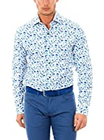 McGregor Camisa Hombre Lerici Burton 4 Tf Ls (Blanco / Azul)