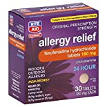 Rite Aid Pharmacy Allergy Relief, Original Prescription Strength, 180 mg, Tablets, 30 tablets