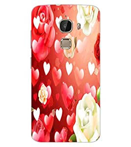 ColourCraft Heart and Flower Design Back Case Cover for LeEco Le 2 Pro