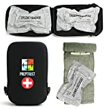 Prep Trust Emergency First Aid Israeli Battle Dressing Compression Bandage, (Two 6 Inch Bandages with Case-Black)