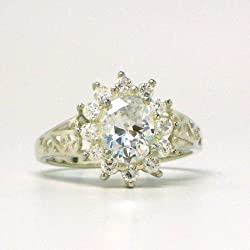 Sterling Silver Bella's Engagement Ring