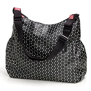 Babymel Big Slouchy Black Dot Changing Bag from BabyCentre