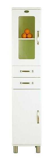 Tenzo MALIBU Designer High Cupboard, 200 x 41 x 40 cm, White