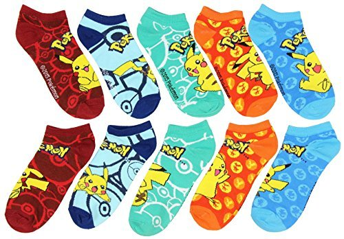 Pokemon-Mix-and-Match-Ankle-Socks-Set-of-5-by-Animewild