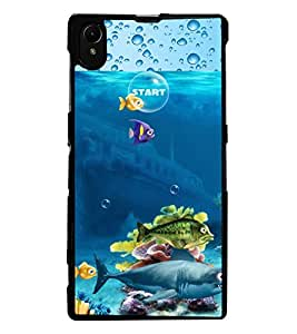 ColourCraft Fishes Design Back Case Cover for SONY XPERIA Z1