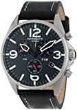 Torgoen Swiss Men's T16105 T16 Stainless Steel Watch with Leather Strap