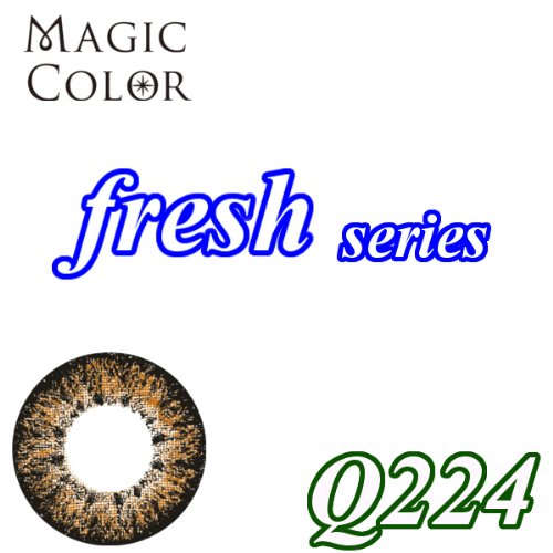 MAGICCOLOR (マジックカラー) fresh Q224 度なし 14.5mm 1ヵ月使用 2枚入り