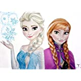 Akhuratha Designs Movie Frozen Princess Anna Arendelle Elsa Snow HD Wall Poster