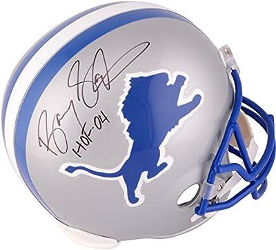 Barry Sanders Detroit Lions Autographed Riddell Replica Helmet with HOF 04 Inscription - Fanatics Authentic Certified
