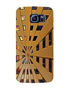 Bagsfull Designer Printed Matte Hard Back Cover Case for Samsung Galaxy S6