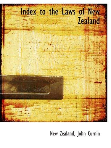 Index des lois de la Nouvelle-Zélande