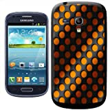 Fancy A Snuggle Abstract 3D Wave Background with Orange and Black Clip-on Hard Back Cover for Samsung Galaxy S3 Mini i8190