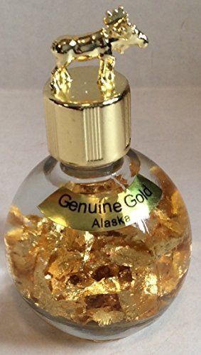 alaska-24k-gold-flakes-in-1-oz-miners-assay-bottle-with-moose-top-by-souvenier