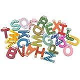 BONAMART ® 26 Alphabet Colorful Magnetic Letters A-Z Wooden Fridge Magnets Baby Kid toys Education