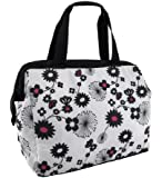 Thermos Raya Insulated Black Floral 9 Can Duffle Bag