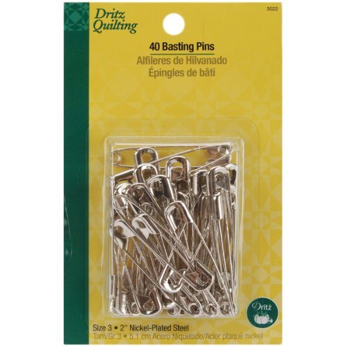 Dritz Quilting Basting Pins, Size 3, 40  Count