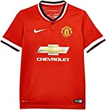 Nike Boy's Short Sleeve Jersey - Diablo Red/Football White/Football White, X-Large