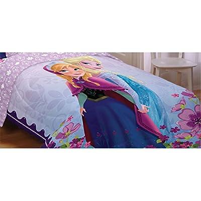 Disney Frozen Celebrate Love 76-Inch by 86-Inch Microfiber Reversible Comforter, Full by Disney